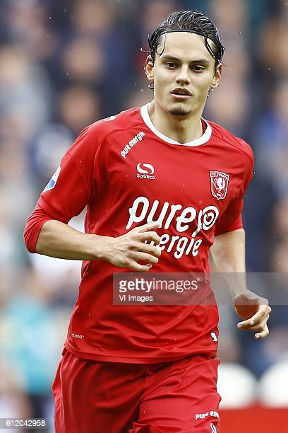Enes Unal of FC Twenteduring the Dutch Eredivisie match between Heracles Almelo and FC Twente at Polman stadium on October 02 2016 in Almelo The...