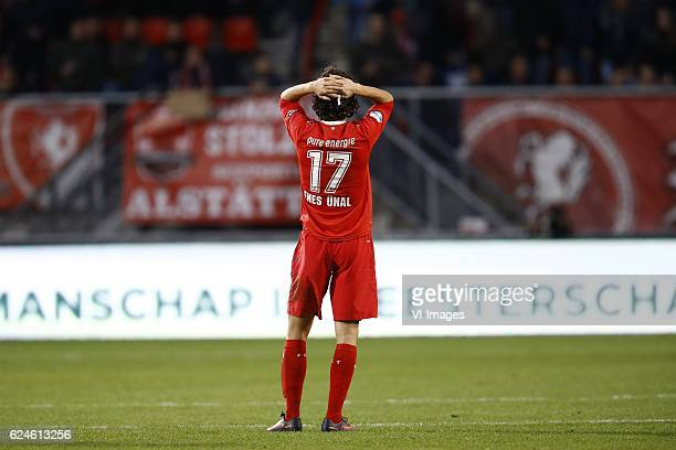 Enes Unal of FC Twenteduring the Dutch Eredivisie match between FC Twente and FC Utrecht at the Grolsch Veste on November 20 2016 in Enschede The...