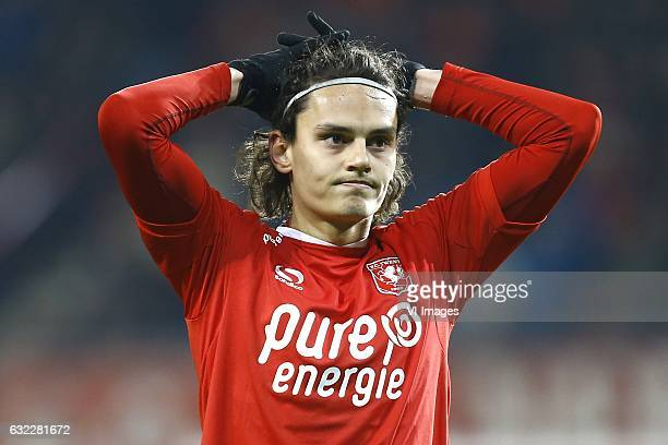 Enes Unal of FC Twenteduring the Dutch Eredivisie match between FC Twente and Heracles Almelo at the Grolsch Veste on January 20 2017 in Enschede The...