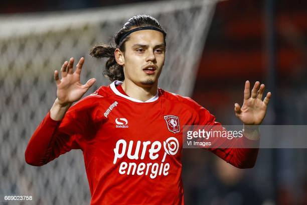 Enes Unal of FC Twenteduring the Dutch Eredivisie match between FC Twente and NEC Nijmegen at the Grolsch Veste on April 15 2017 in Enschede The...