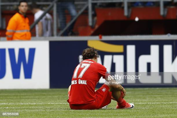 Enes Unal of FC Twenteduring the Dutch Eredivisie match between FC Twente and FC Groningen at the Grolsch Veste on May 14 2017 in Enschede The...