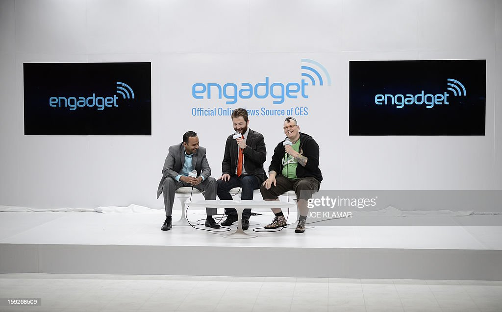 Engadget studion going live at the 2013 International CES at the Las Vegas Convention Center on January 10, 2013 in Las Vegas, Nevada. CES, the world's largest annual consumer technology trade show, runs from January 8-11 and is expected to feature 3,100 exhibitors showing off their latest products and services to about 150,000 attendees.