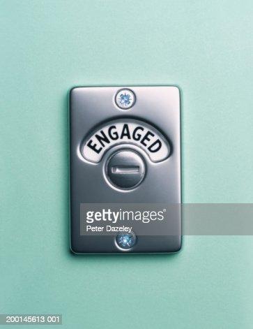 'Engaged' lock, close up