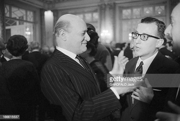 Engagement Of Maria Scicolone And Romano Mussolini 2 Mars 1962 Les fiancailles de Romano MUSSOLINI fils cadet du duce pianiste de jazz et peintre...