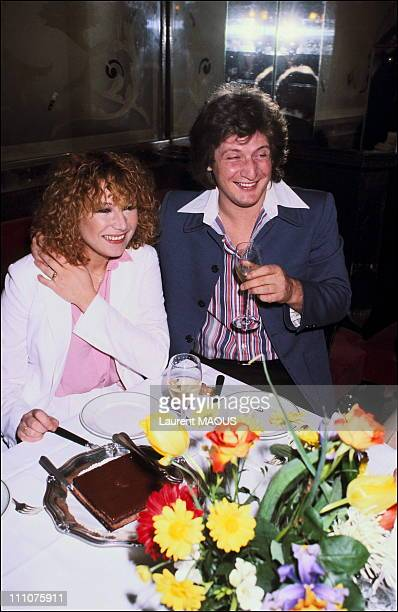Engagement of Marie Myriam and Patrick Sebastien in France in March 1978