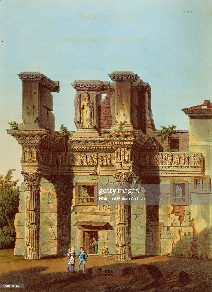 Engarving Depicting Temple of Pallas in Rome by Matthew Dubourg