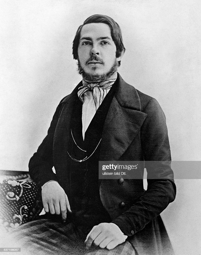 Engels, Friedrich (*28.11.1820-05.08.1895+) , Politiker und soz. Theoretiker, - Portrait, - um 1845