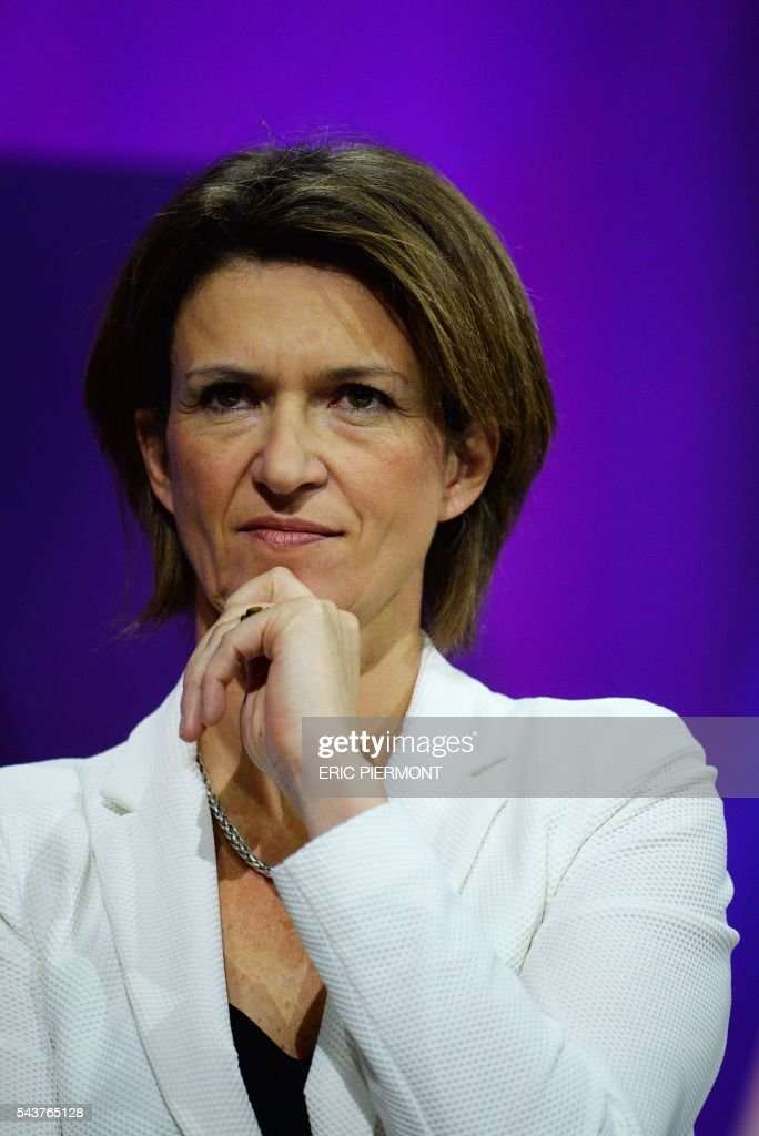 Engie CEO Isabelle Kocher attends a session at the Viva Technology event in Paris on June 30, 2016. / AFP / ERIC