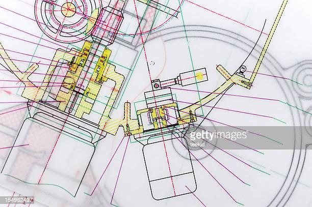 Moteur Blueprint-Concept de production de l'Industrie