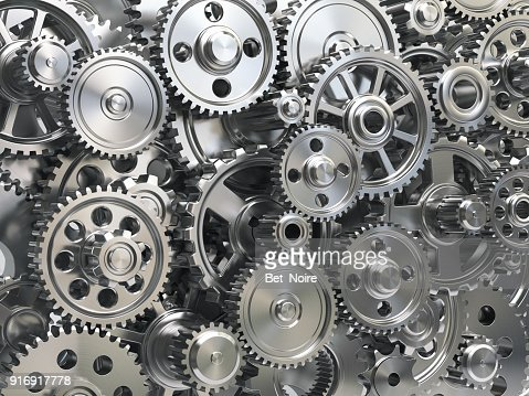 Engine gear wheels. Industrial and teamwork concept background. : Stock Photo