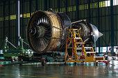 Engine wait for maintenance.