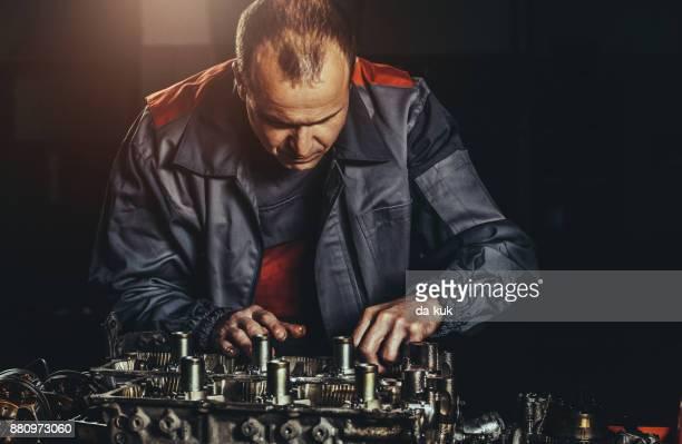 V8 Engine repair in auto repair shop