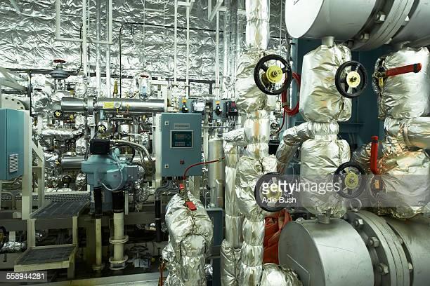 Engine room of container ship, GoSeong-gun, South Korea