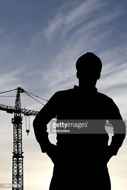 Engineer and Crane