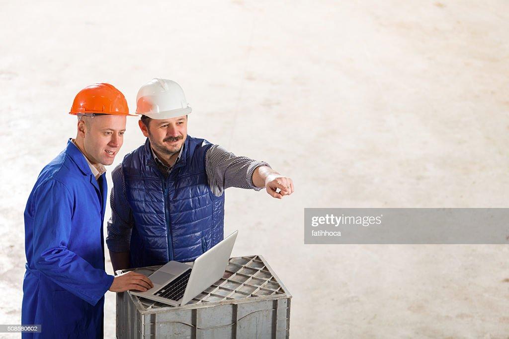 Engineer and Foreman : Stockfoto