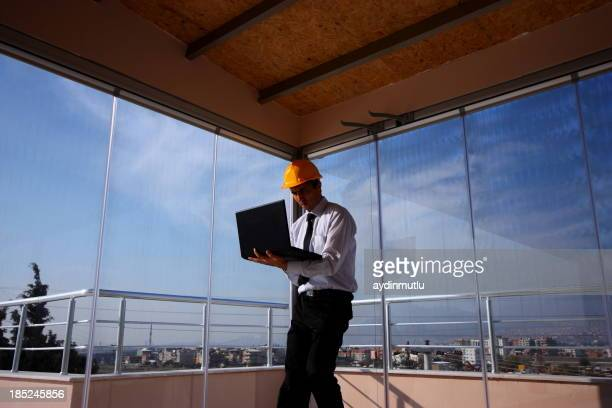 Engineer and Laptop