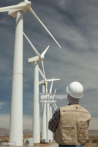 Engineer at a wind farm