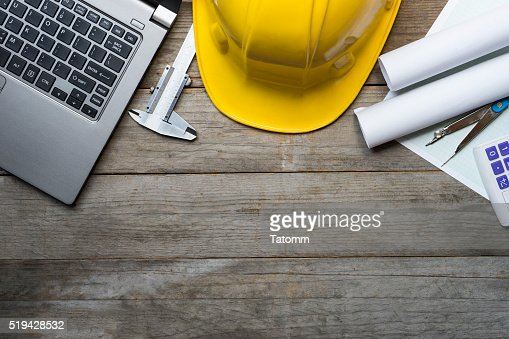 Ingenieur Schreibtisch-Hintergrund, Projekt Ideen Konzept : Stock-Foto