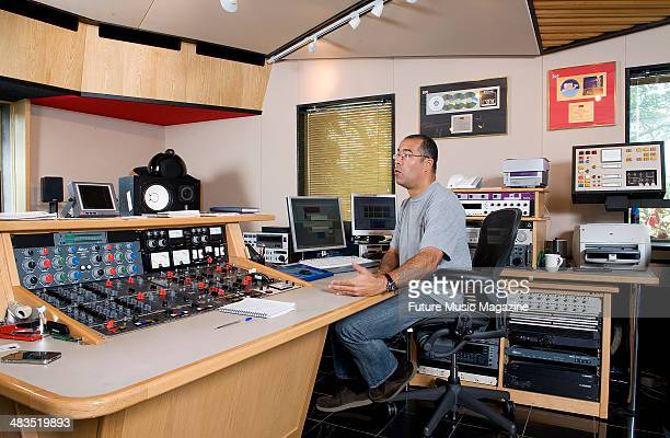 Engineer Geoff Pesche during a mastering technique shoot at Abbey Road Studios London September 21 2010