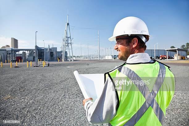 技術プランの発電所を一望