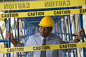 Architect standing at a construction site