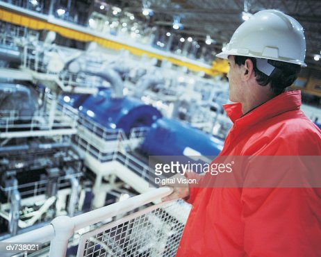 Engineer in nuclear power station : Stock Photo