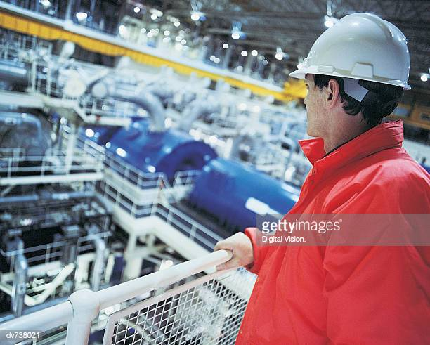 Engineer in nuclear power station