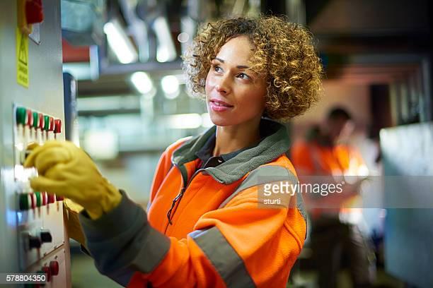 engineer in the boiler room