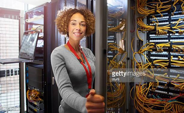 IT engineer in the server room