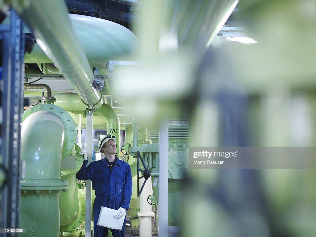 Engineer in Turbine Hall