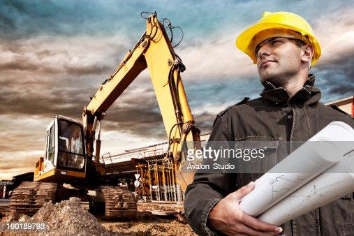 Ingénieur sur un chantier de construction