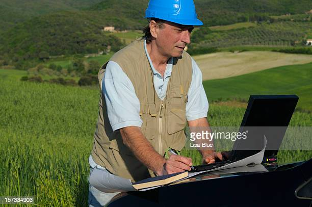 Engineer Planning PC in the Countryside