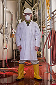 Engineer standing in a chemical plant