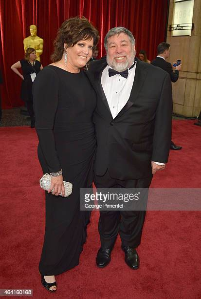 Engineer Steve Wozniak and Janet Wozniak attend the 87th Annual Academy Awards at Hollywood Highland Center on February 22 2015 in Hollywood...