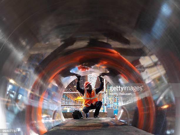 Engineer Testing Forged Steel