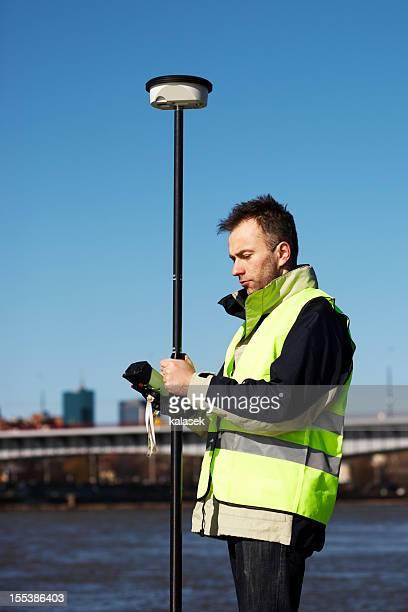 Engineer with GPS
