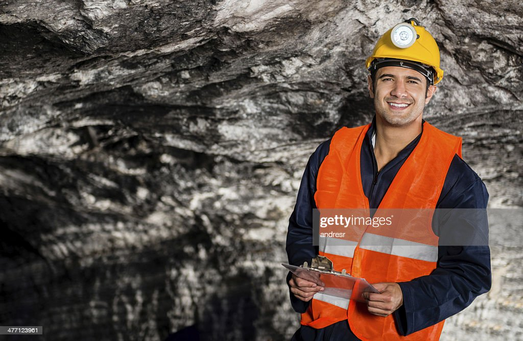 Engineer working at a mine