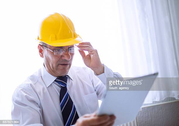 Engineer working at  the office