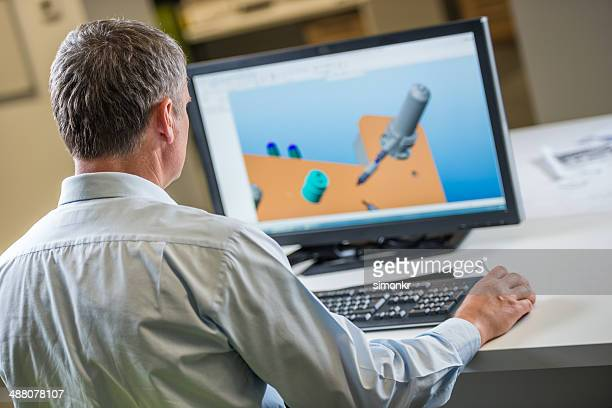 Engineer Working On Computer