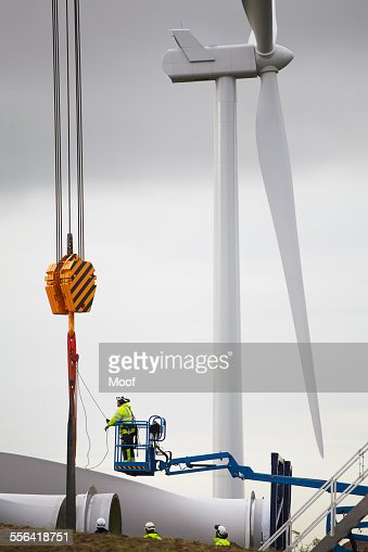 Engineer working on wind turbine