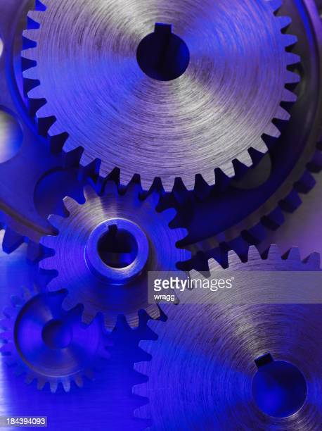 Engineering Cogs and Gears Connecting