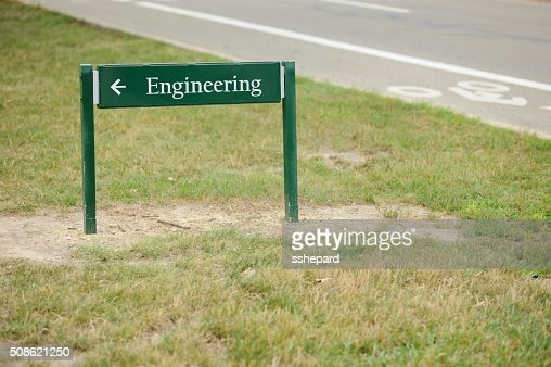 Engineering direction sign : Stock Photo