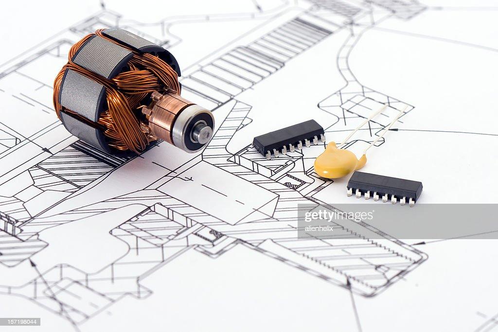 Technische Zeichnung : Stock-Foto