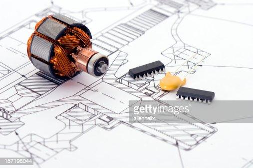 の技術図面 : ストックフォト
