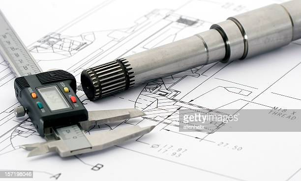 Engineering drawing tools on a layout