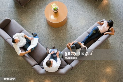 Engineering students studying in a student lounge : Stock Photo