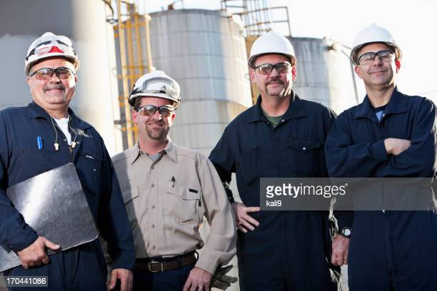 Engineers at chemical plant