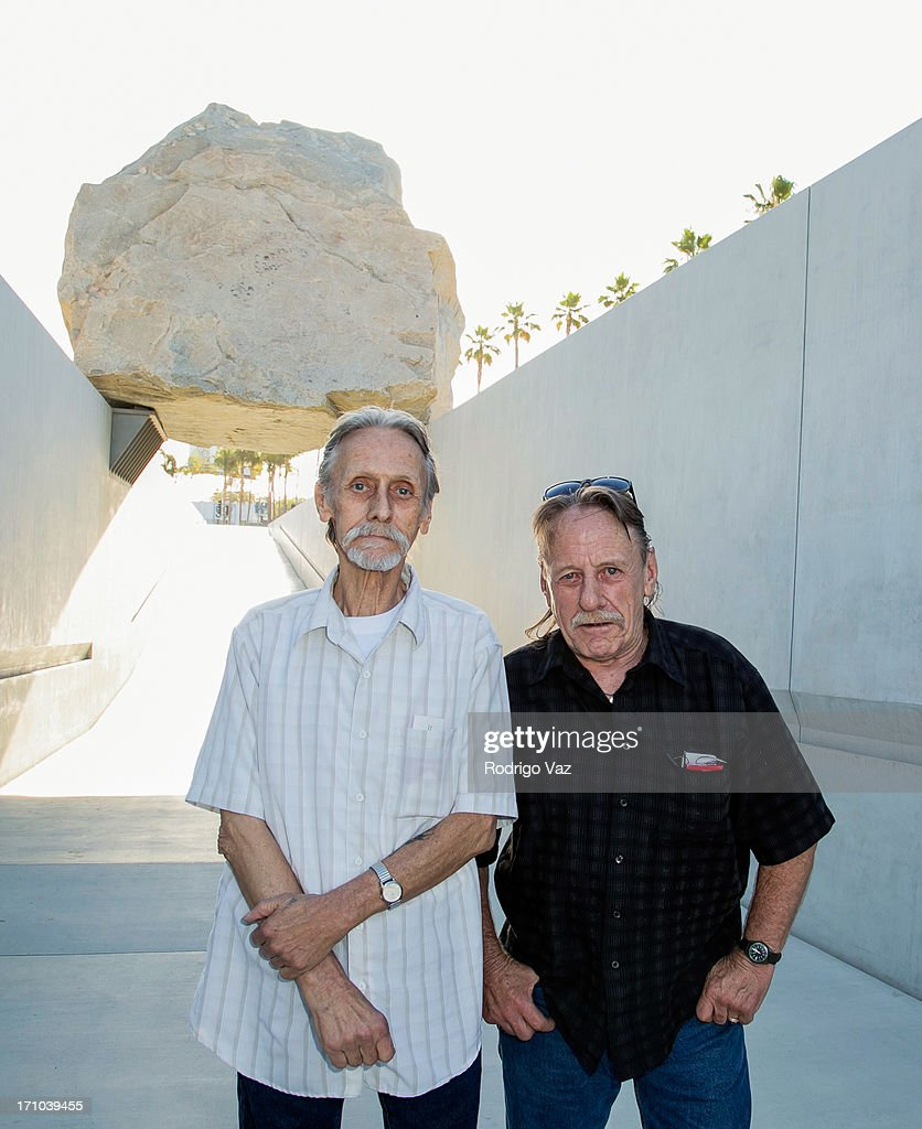 Engineers Bill Johnston (L) and Dan Johnston attend the 2013 Los Angeles Film Festival - 'Levitated Mass: The Story Of Michael Helzer's Monolithic Sculpture' Gala Screening at Bing Theatre At LACMA on June 20, 2013 in Los Angeles, California.