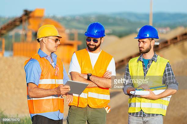Engineers in teamwork and brainstorming