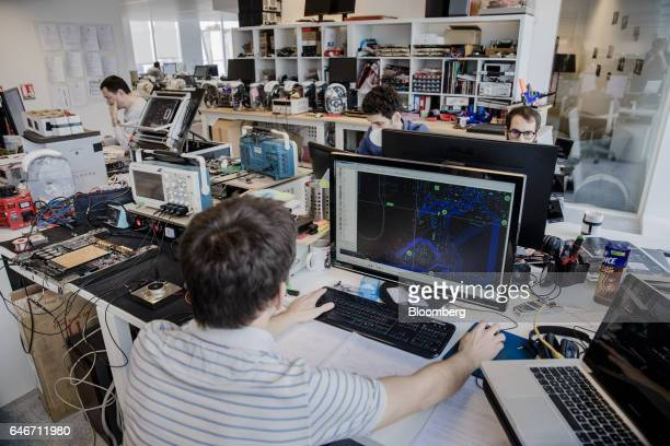 Engineers work in the laboratory at the Devialet SAS headquarters in Paris France on Friday Jan 27 2017 In November the Parisbased company which...